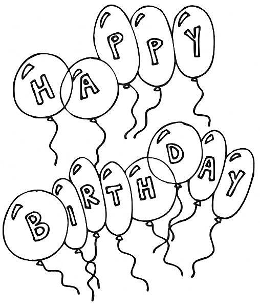transmissionpress: Birthday Coloring Pages