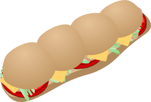 Free food submarine sandwich clipart