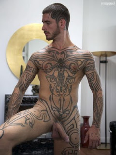 naked guys with tattoos