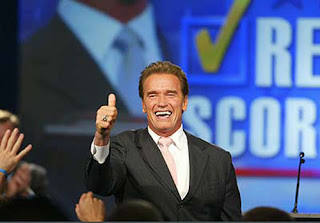 Californian governor Schwarzenegger is all for a greener planet