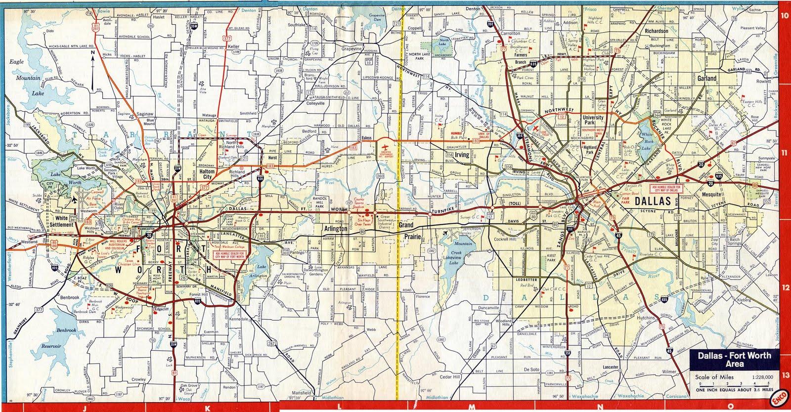 dallas toll road map 1963 Eastern Hills High School Ehhs Highlanders Toll Road Dfw dallas toll road map