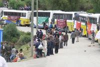 Grupos irregulares pro-gobierno llegan a Sucre