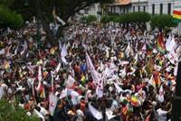 Rebelión popular de Sucre contra el gobierno de Evo Morales