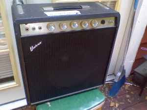 this is a univox tube combo with two 6aq5 output tubes for about $15 watts  - this will be a