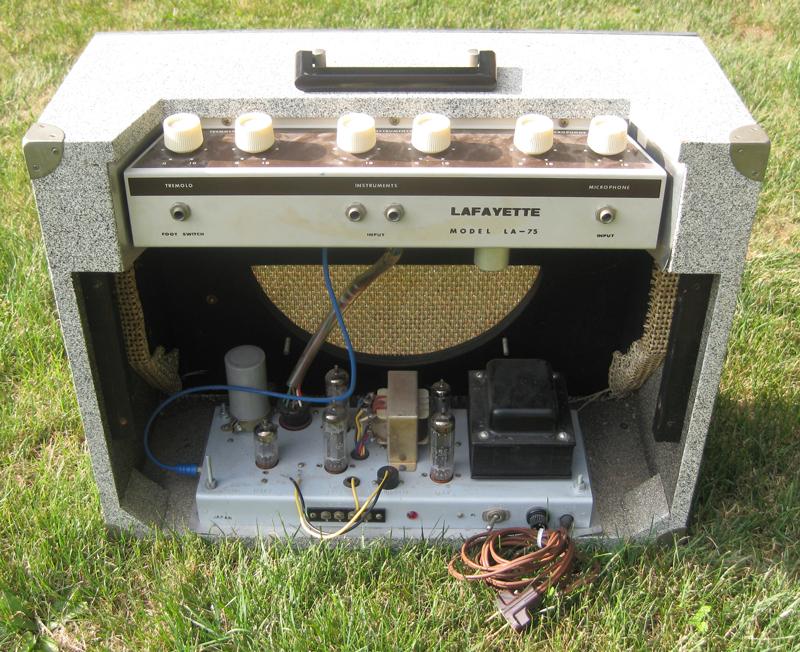 Craigslist Vintage Guitar Hunt Lafayette La 75 Vintage Tube Combo