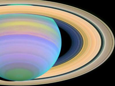 A UV Light Photograph of Saturn