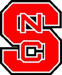 Red NC State Block S