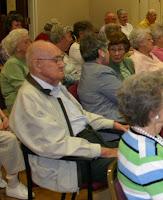 Haywood Basinger, Billie Eller, and Louise Basinger at the SJB concert at Trinity Oaks Retirement Community