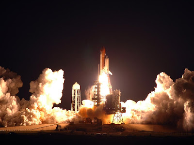 Night Launch Of The Space Shuttle
