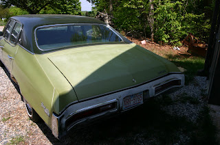 Green 1971 Buick Skylark 4 Door Rear View
