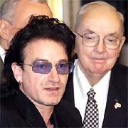 Bono and Senator Jesse Helms