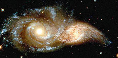 Proximate galaxies that look like a pair of glowering eyes.