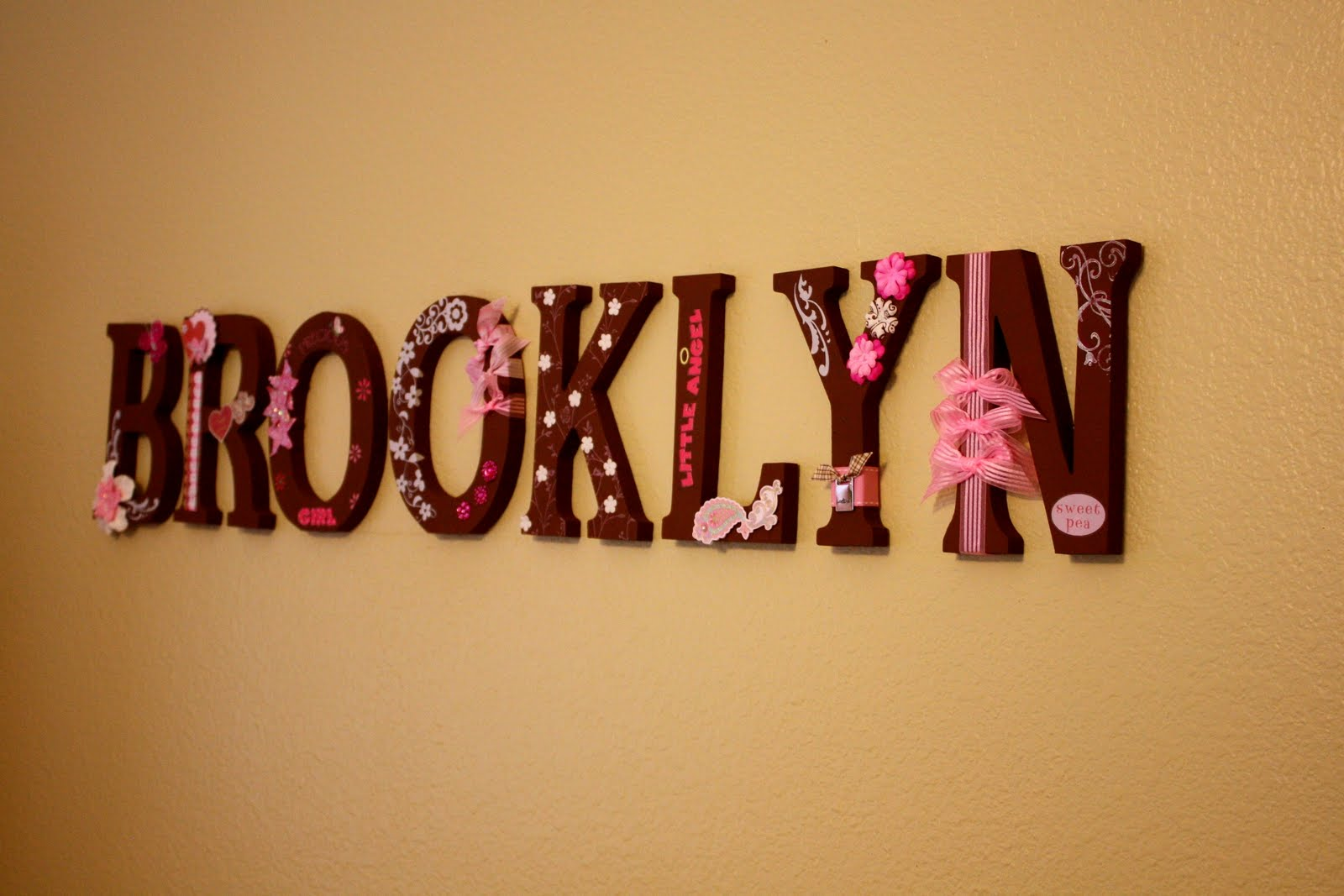 diy baby name in block letters the bump