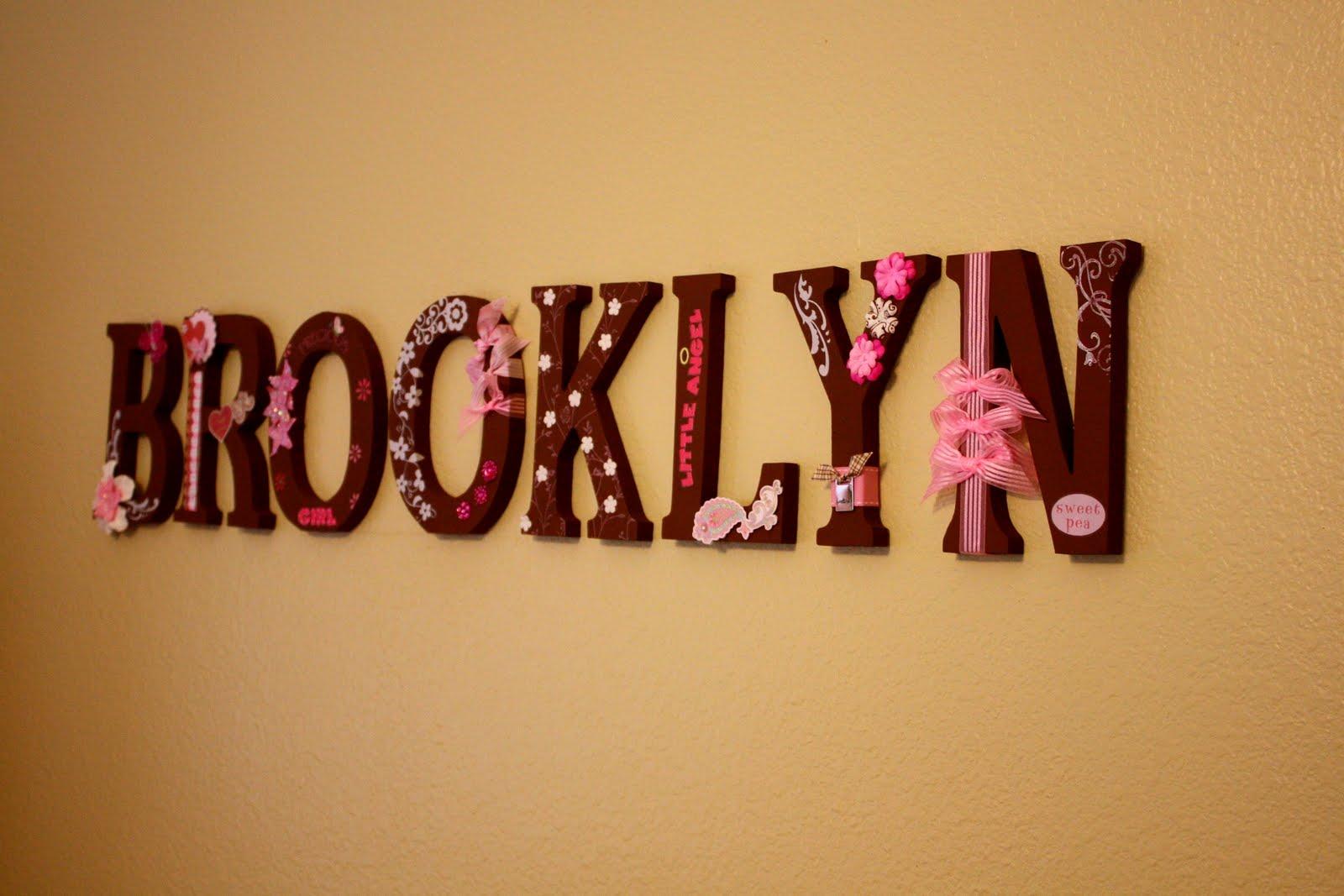 DIY-Baby Name In Block Letters