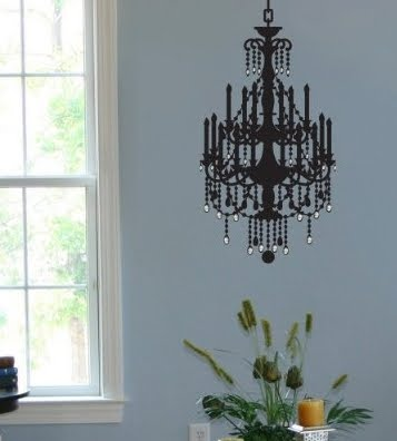 Target Addict Pick Of The Week, Chandelier Wall Decal Target