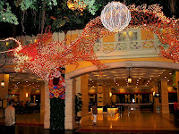 CNY lighting decor, above and outside lobby entrance of First World Hotel #1