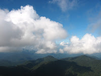 Skyscape and mountainscape in the late afternoon at Genting