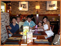 Posing with Darren and his family, while waiting for David's