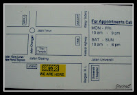 Location Map to Eye Specialist Clinic Kok & Kok