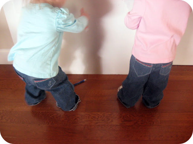 Easier than you might think! Step by step tutorial on how to make toddler jeans from old maternity pants. No pattern needed. #sewingproject #sewingforbeginners #easysewingidea #sewingforkids #repurposing #sewingkidsclothes