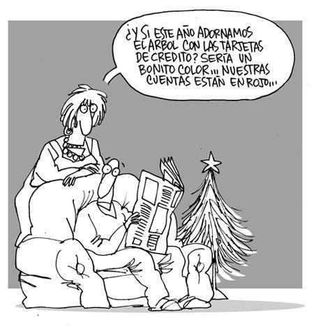 arbol de navidad con tarjetas