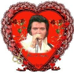 Elvis Presley, corazones para San Valentín