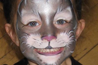 maquillaje de gato gris