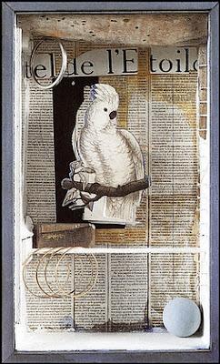 Joseph Cornell-a parrot for Juan Gris
