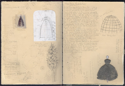Erin Curry- sketchbook page Fulani Hausa notes