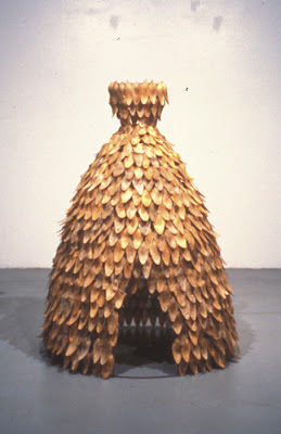 Erin Curry art- Dwelling, dress made of petals