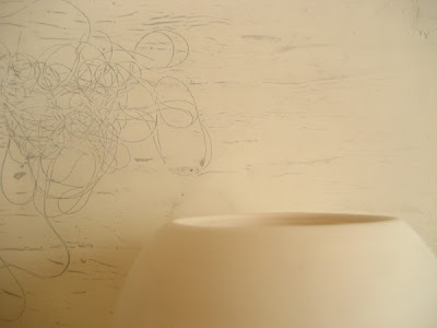 Erin Curry- white bowl with drawing