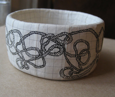 Erin Curry art- papermache bracelets