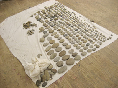 Erin Curry- photograph of arranged stone collection