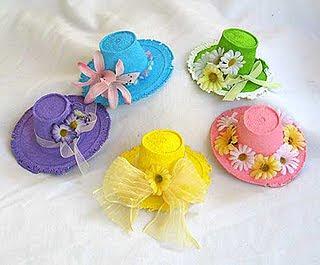 mode attrayante acheter authentique à bas prix Styrofoam Cup Spring Bonnets - Crafts by Amanda
