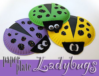 Paper Plate Lady Bugs Crafts By Amanda