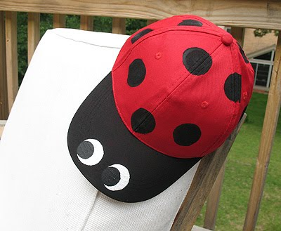 Ladybug Baseball Hat Crafts By Amanda