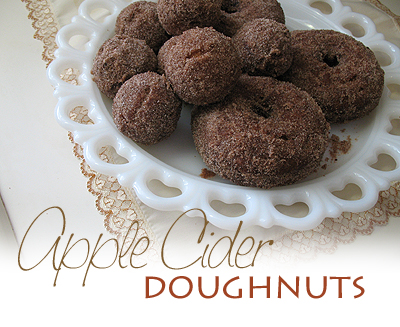 A close up photo of apple cider doughnuts.