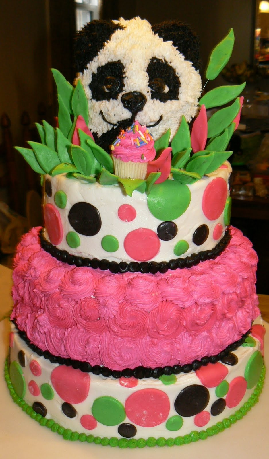 Kelly Roberts Designs: Panda Birthday Cake