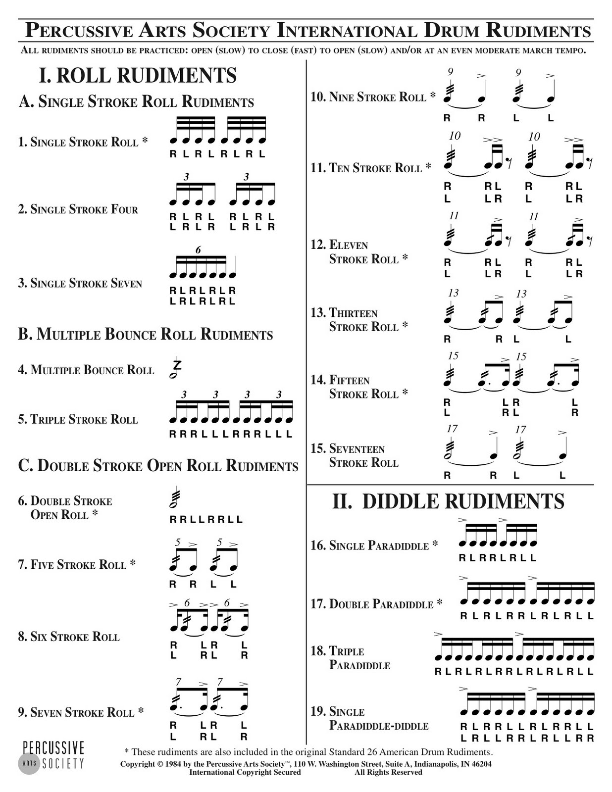 Percussive Sweet Spot: Rudiments