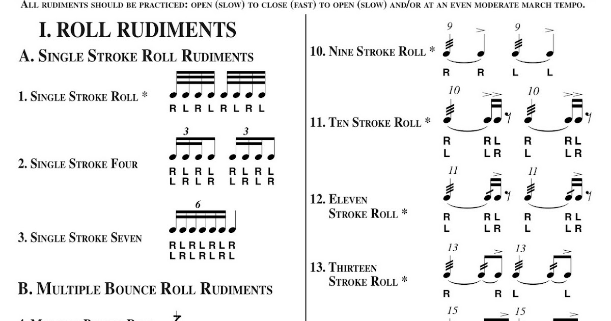 photograph regarding Printable Drum Rudiments referred to as 100+ Percussion Rudiments yasminroohi