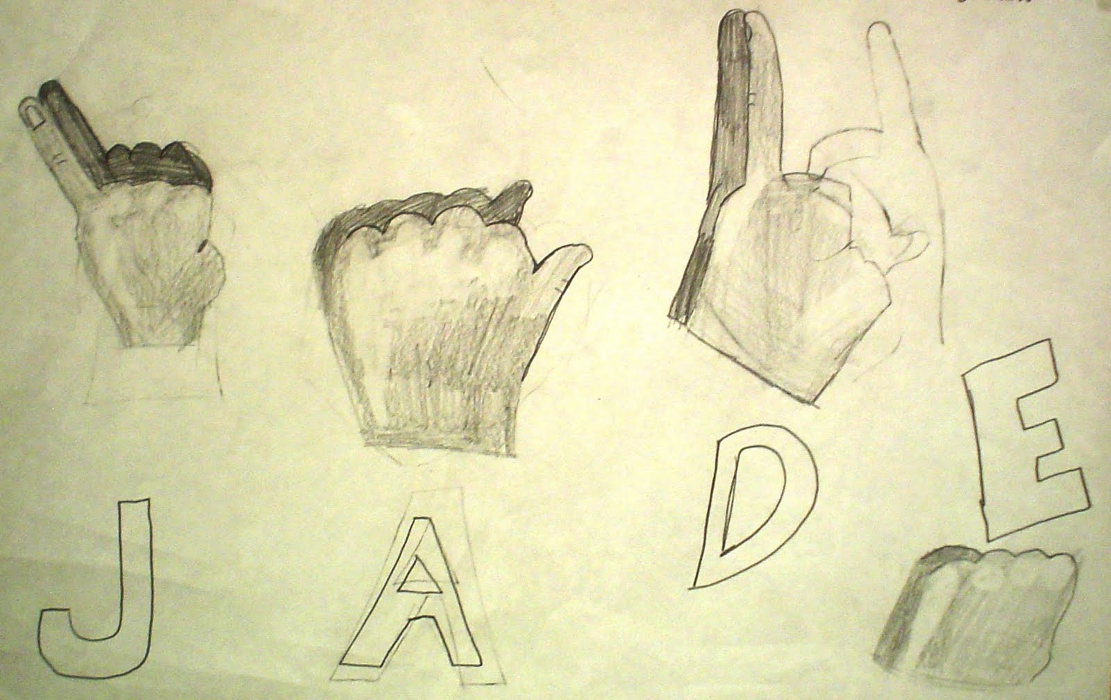 Lessons From The Art Room American Sign Language Drawings