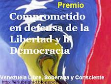 Premio otorgado por Venezuela libre soberana y consciente y por Pandora