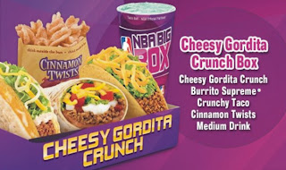 Find the deals and combos at Taco Bell. Try the Cravings Deal, 2 Chalupas Supreme Combo, or the Nachos BellGrande Combo. Order now and skip our line! Log in. Order your Taco Bell® Combo Box online and skip our line today! Prices and items may vary .