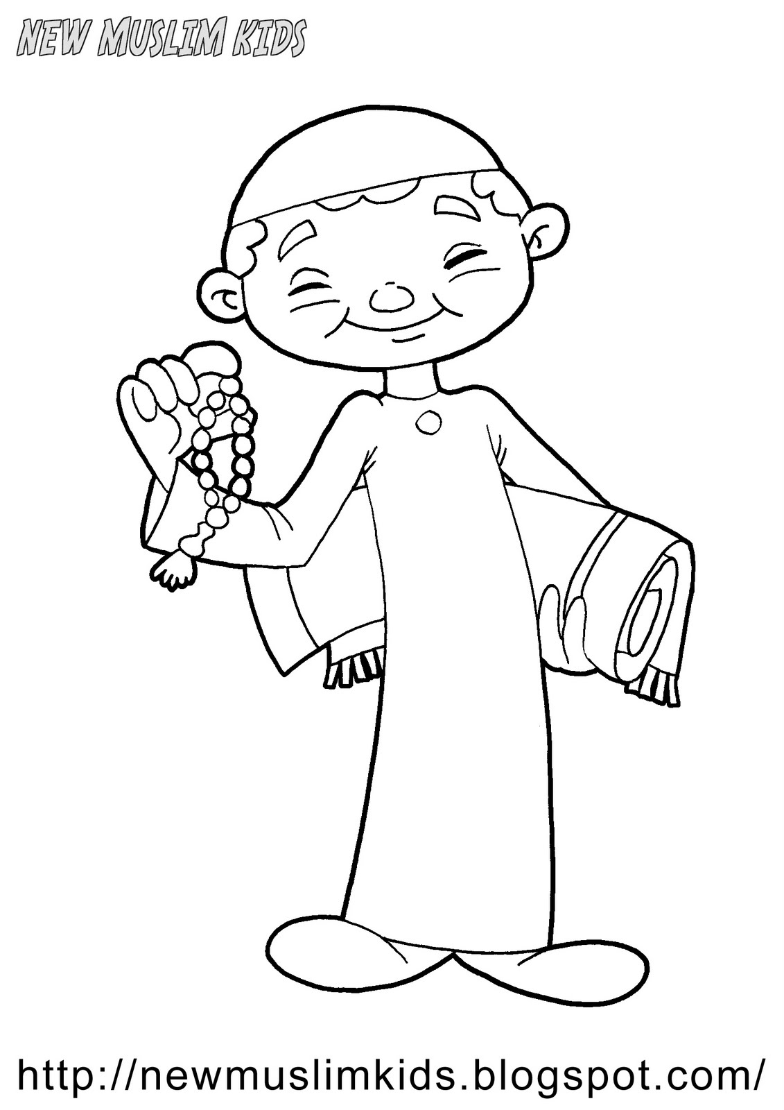 New Muslim Kids Coloring Pages For Free 7