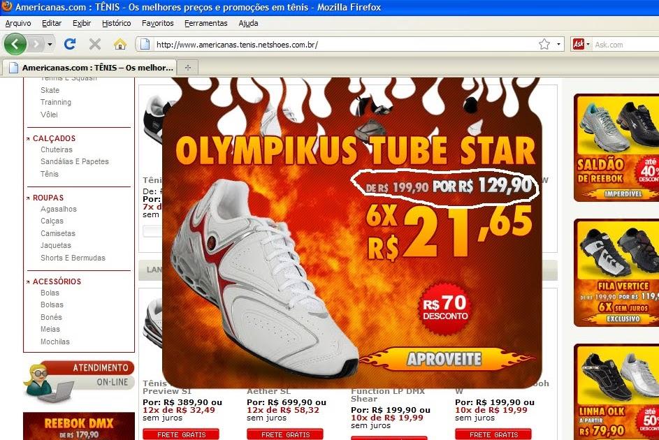 Erro no site da amerinas.netshoes  3dc8301615d