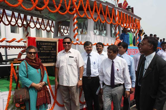 View Patna: Training ship inaugurated at Gandhi Ghat