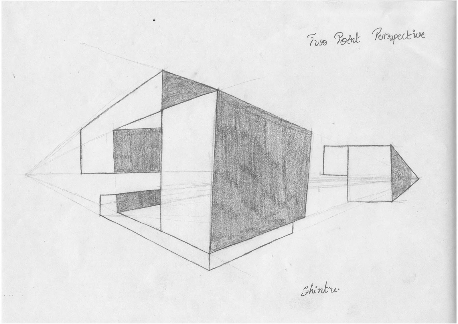 Students Work Shintu Paul Dafm Two Point Perspective 2
