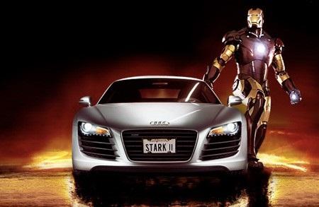 es gibt eine neue gemeinsame werbung um iron man 2 und den neuen audi r8 zu bewerben - Audi Bewerben