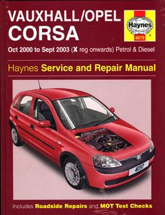 2000 2003 vauxhall opel corsa haynes service manual. Black Bedroom Furniture Sets. Home Design Ideas