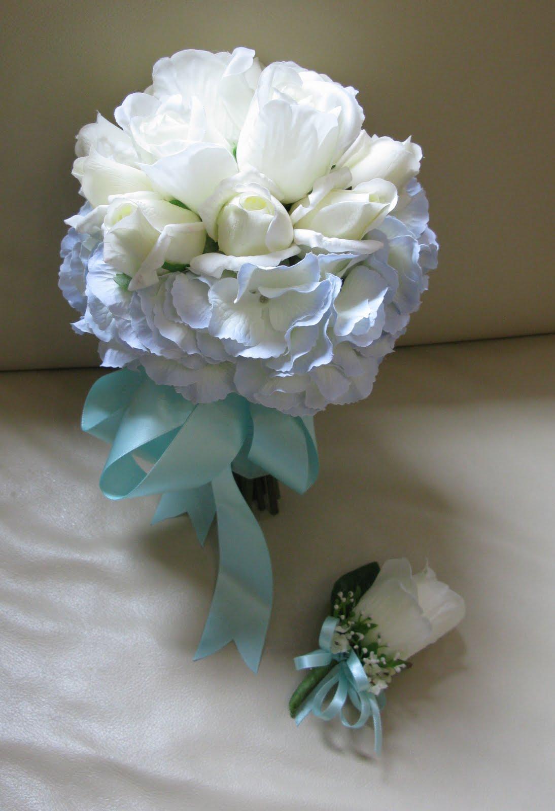 20 best Weddings at Citronelle Community Center images on ... |Light Blue Hydrangea Bouquet